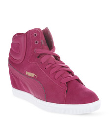 Puma Vikky Wedge Sneakers Cerise