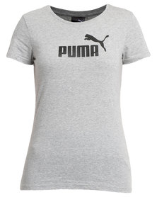 Puma Essential Large Logo Heather Tee Grey