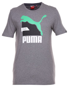 Puma Fun Cat Graphic Tee Grey