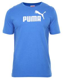 Puma ESS No-1 Logo Tee Blue