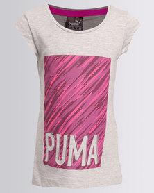 Puma Style Tee Light Grey Heather