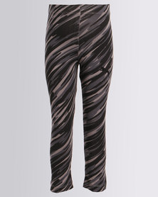 Puma Printed Leggings Cotton Black