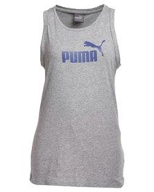 Puma Large Logo Tank Top Grey