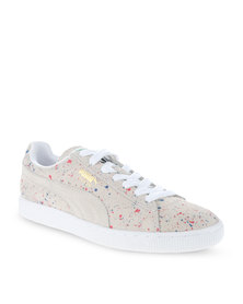 Puma Suede Classic Allover Splatter Sneakers Neutral