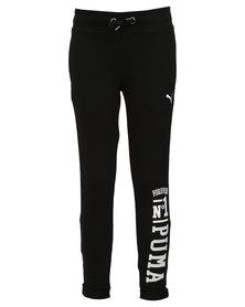 Puma Style Roll Up Straight Leg Pants Black