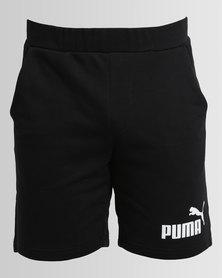 "Puma ESS No.1 Sweat Shorts 9"" Cotton Black"