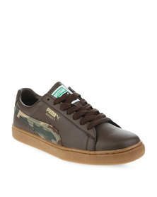 Puma Basket Camo DP Sneakers Brown