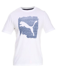 Puma Paint Cat Tee White