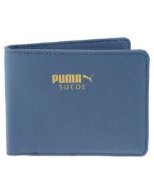 Puma Suede Billfold Wallet Blue