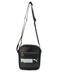 Puma Campus Portable Cross Body Bag Black