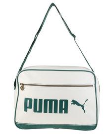 Puma Campus Reporter Messenger Bag White