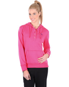 Puma SP Button Placket Hoodie Pink