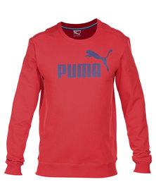 Puma ESS NO1 Logo Crew Sweater Red