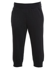 Puma Capri Sweat Pants Black