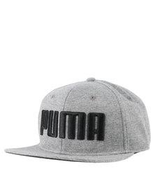 Puma Essentials Flat Brim Cap Grey