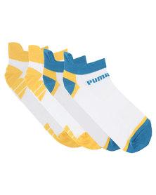 Puma Performance 2-Pack Trainer Liner Gym Socks White