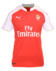 Puma Performance Arsenal FC Home Replica Shirt 2015/16 with Sponsor Logo Red and White