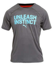 Puma Performance Unleash Instinct Tee Grey