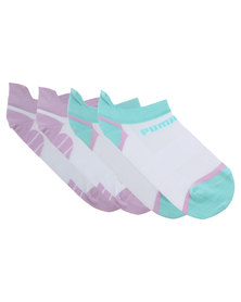 Puma Performance 2-pack Trainer Liner Gym Sock White