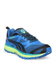 Puma Performance Faas 500TR Trail Running Shoes Blue/Green