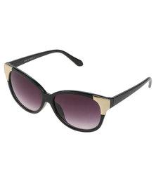 Queenspark Corner Plated Sunglasses Black
