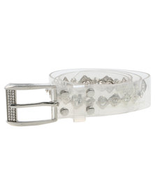 Queenspark Rivet And Diamante Jelly Belt