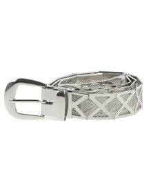 Queenspark Metal Mesh Criss Cross Belt Silver-tone