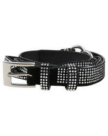 Queenspark Diamante Sparkle Belt Silver-tone