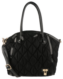 Queenspark Puff Quilted Bag Black