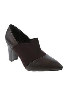 Queenspark Elastic Court Shoe Brown