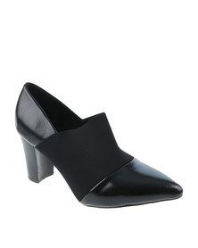 Queenspark Elastic Court Shoe Black