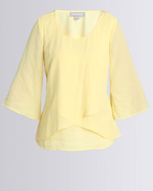 Queenspark New Airflow Woven Blouse Yellow