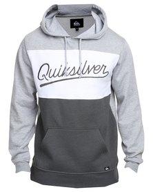 Quiksilver Dark Waters Pullover Hoodie Grey