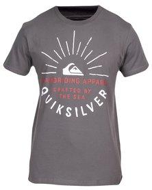 Quiksilver Rising Sun T-Shirt Grey