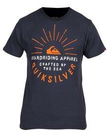 Quiksilver Rising Sun T-Shirt Blue