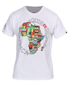 Quiksilver African Sunrise Destination T-Shirt White