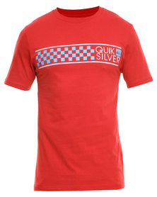 Quiksilver Cave Man T-Shirt Red