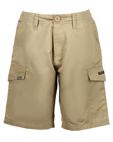 Quiksilver Sheriff Badge Shorts Khaki Brown