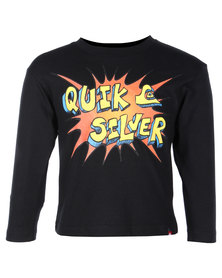 Quiksilver Kapow Long Sleeve Tee Black