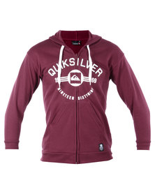 Quiksilver Dyson Hooded Sweater Red
