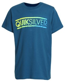 Quiksilver Boys Filled In T-Shirt Blue