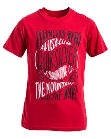 Quiksilver Boys Bladerunner T-Shirt Red
