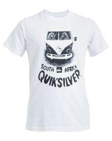 Quiksilver Boys Keep Left Destination T-Shirt White