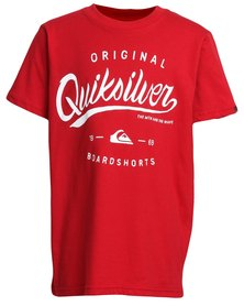 Quiksilver Home Run T-Shirt Revolution Red