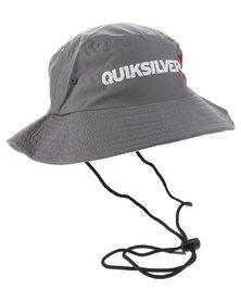 Quiksilver Topaz Surf Hat Dark Grey