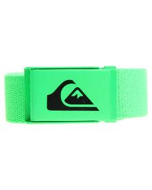 Quiksilver Easy Web Belt Green