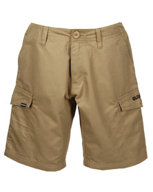 Quiksilver Sheriff Badge Cargo Shorts Brown