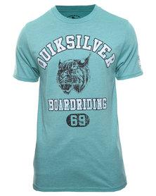 Quiksilver Wild Cats Short Sleeve T-Shirt Mint