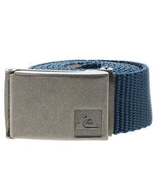 Quicksilver Principle Webbing Belt Blue