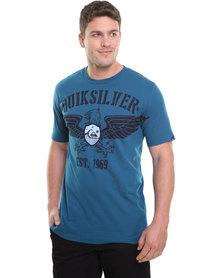 Quiksilver Beaver SS Tee Blue
